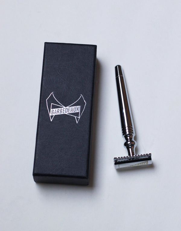 Barbedeaux Chrome Polished Safety Razor