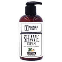 Bay Rum Shave Cream - by Taconic Shave (8oz Pump)