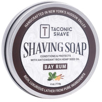 Bay Rum Shaving Soap - by Taconic Shave (4oz)