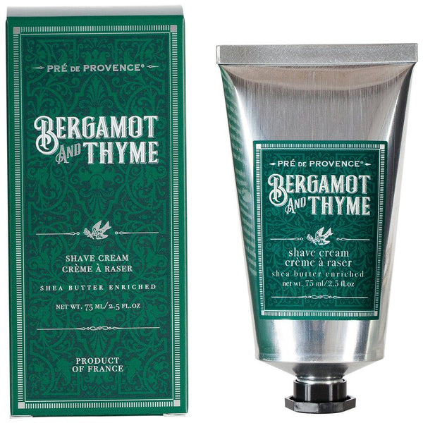 Bergamot and Thyme Shave Cream - by Pré de Provence