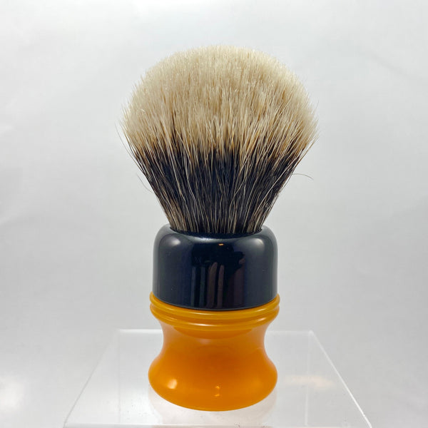 Black Butterscotch Shaving Brush with 20mm SHD Gealousy Bulb Knot - by AP Shave Co.