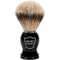 Black Handle Silvertip Badger Shaving Brush and Stand (BHST) - by Parker