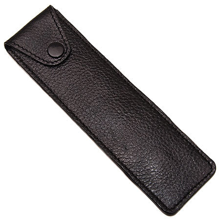 Black Leather Straight Razor Travel Case (LPST) - by Parker