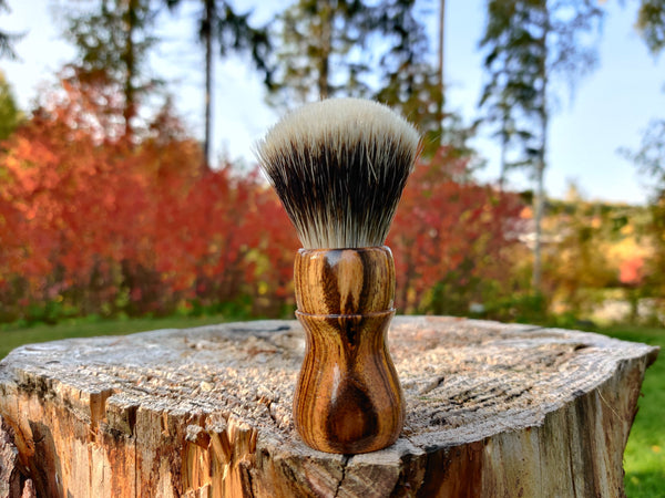 Bocote Wood Shaving Brush with 24mm Fan Knot - by TonmiKo