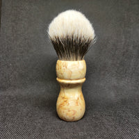 Curly Birch Shaving Brush with 26mm Bulb Knot - by TonmiKo