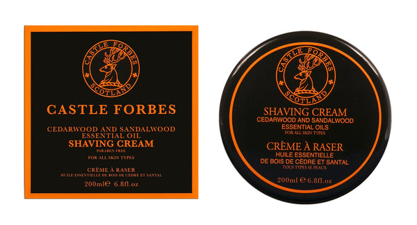 Castle Forbes Cedarwood & Sandalwood Essential Oil Shaving Cream (6.8oz)