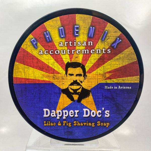 Dapper Doc's Lilac & Fig Shave Soap - by Phoenix Artisan Accoutrements
