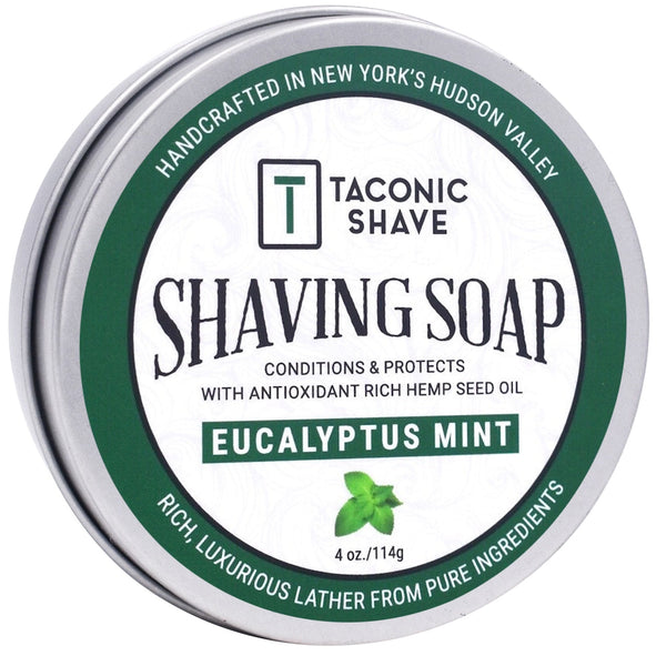 Eucalyptus Mint Shaving Soap - by Taconic Shave (4oz)