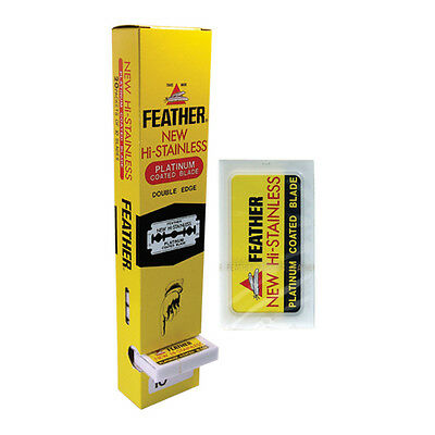 Feather Hi Stainless Double Edge Razor Blades (200 blade pack)