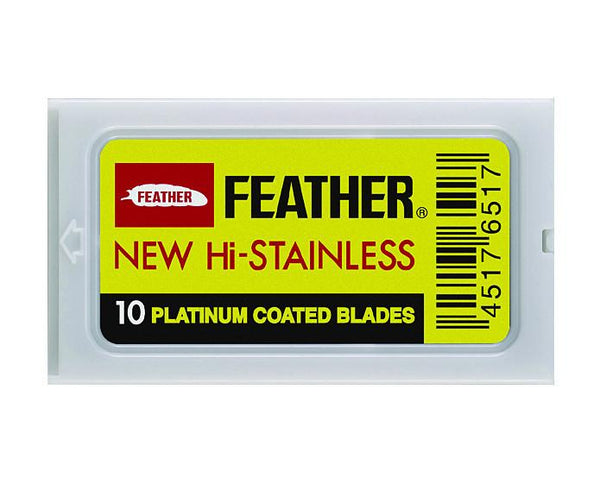 Feather Hi Stainless Double Edge Razor Blades (10 blade pack)