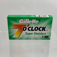 Gillette 7 O'Clock Super Stainless (Green) Razor Blades (5 count)