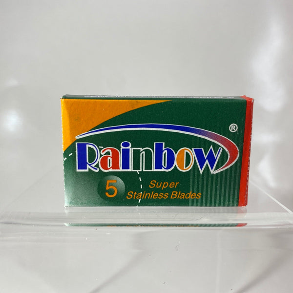 Rainbow Super Stainless Double-Edge Razor Blades (5 Blade Pack)
