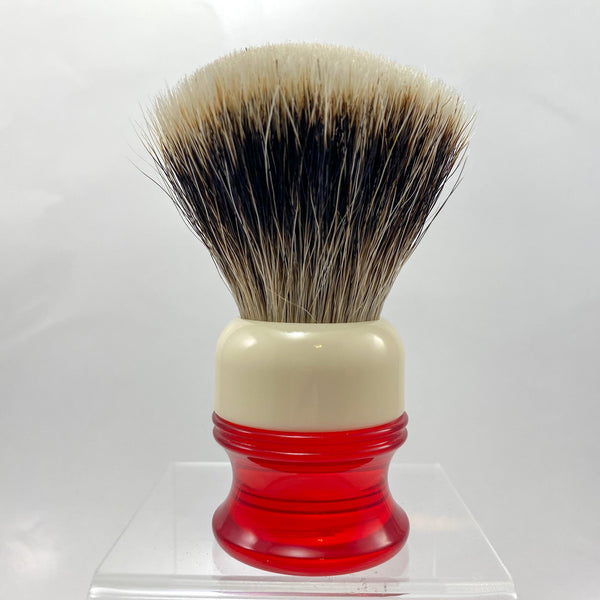 Ivory Red Shaving Brush with 26mm SHD Gealousy Knot (Bulb or Fan) - by AP Shave Co.