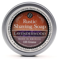 Lavenderwood Rustic Shaving Soap - by Wet Shaving Products