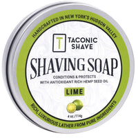 Lime Shaving Soap - by Taconic Shave (4oz)