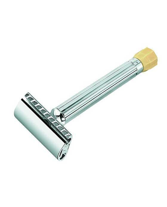 Merkur Progress Long Handle Adjustable Double Edge Safety Razor Safety Razor, Chrome
