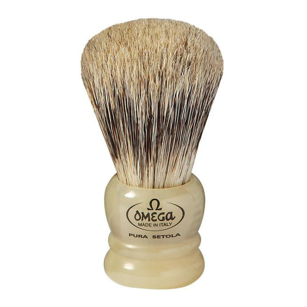 Omega Boar Bristle & Badger Shaving Brush w/Resin Handle