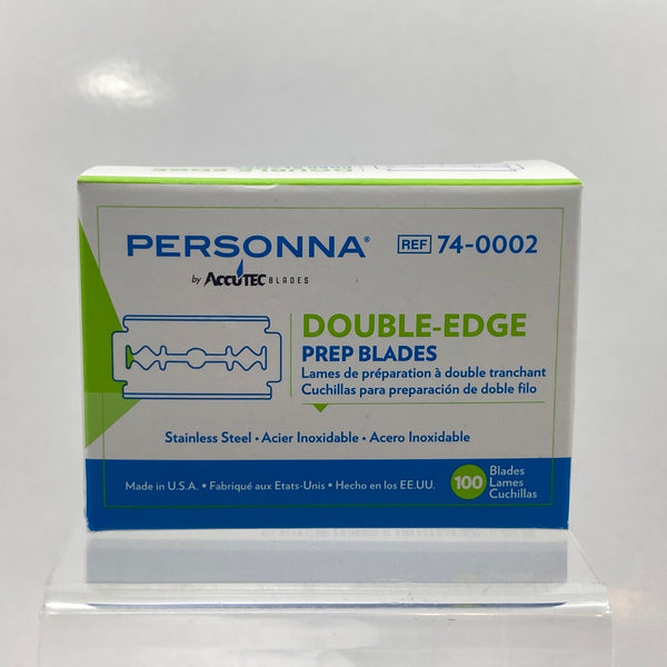 Personna Medical Prep Double Edge Razor Blades (100 Pack)