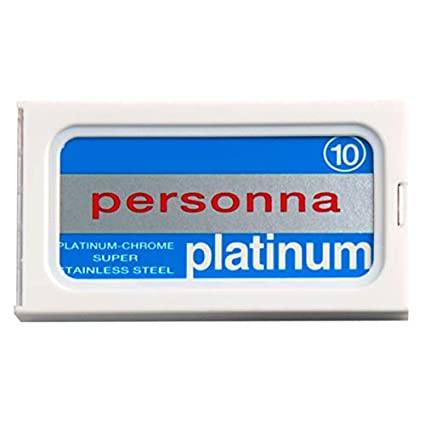 Personna Platinum Chrome Double Edge Safety Razor Blades (10 Count)