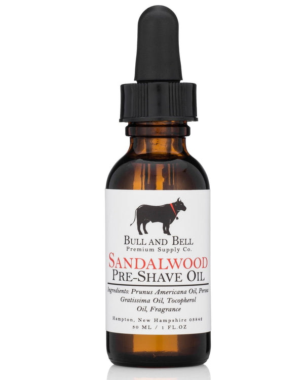Sandalwood Pre-Shave Oil - by Bull and Bell Premium Supply Co.