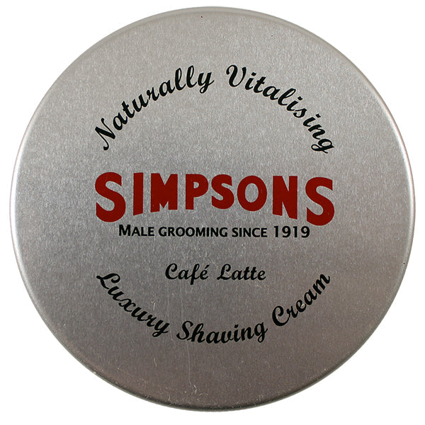 Simpsons Cafe Latte Shaving Cream (4.2oz)