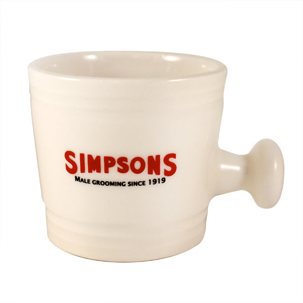 Simpsons Small Ceramic Shaving Mug
