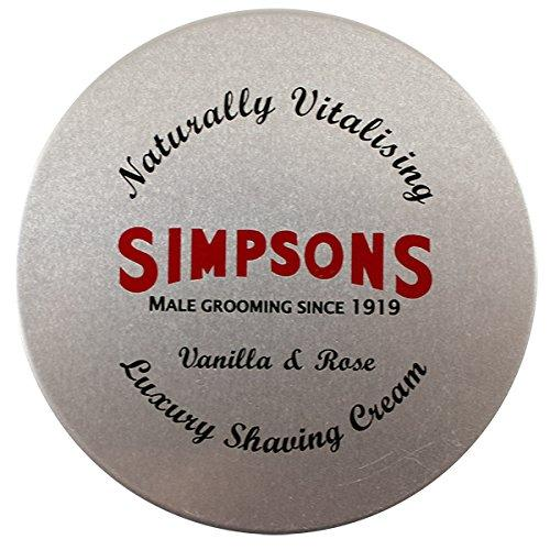 Simpsons Vanilla & Rose Shaving Cream (4.2oz)