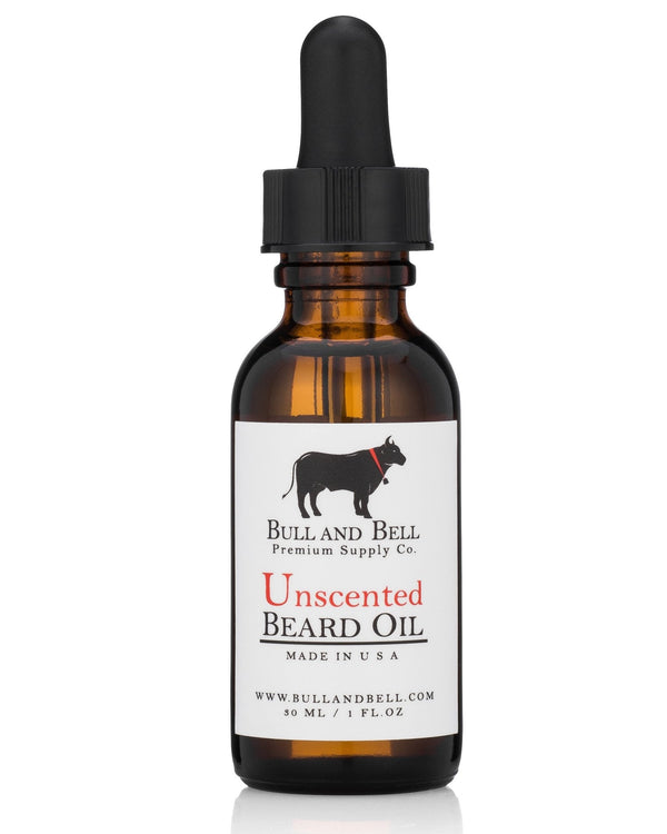 Unscented Beard Oil - by Bull and Bell Premium Supply Co.