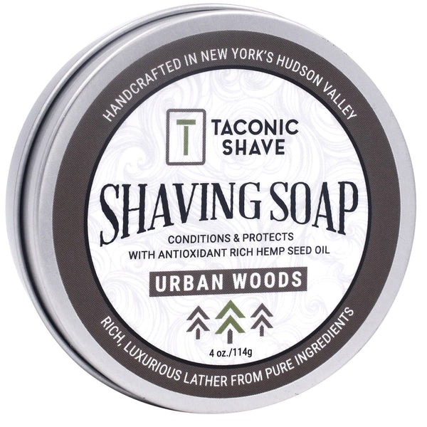 Urban Woods Shaving Soap - by Taconic Shave (4oz)
