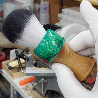 Hybrid Shaving Brush, Traditional Wet Shave, Care Package for Him