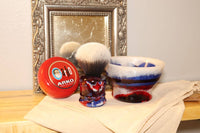 Shaving Brush and Bowl Set, Traditional Wet Shave, Care Package for Him, THICC BOI Ergonomic Design