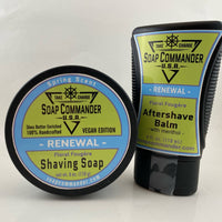 Renewal Shaving Soap (6oz) and Aftershave Balm - by Soap Commander (Pre-Owned)
