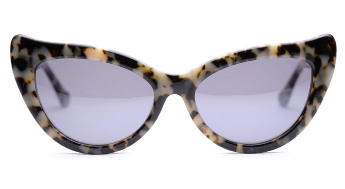 LDNR Charlotte 003 Sunglasses (Black/White Tort)