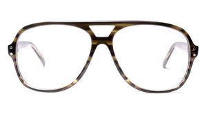 LDNR Heron Glasses (Green Stripe)