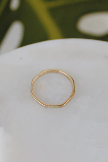 Sadie Jo Jewelry Co. Hex Band in 14K Gold