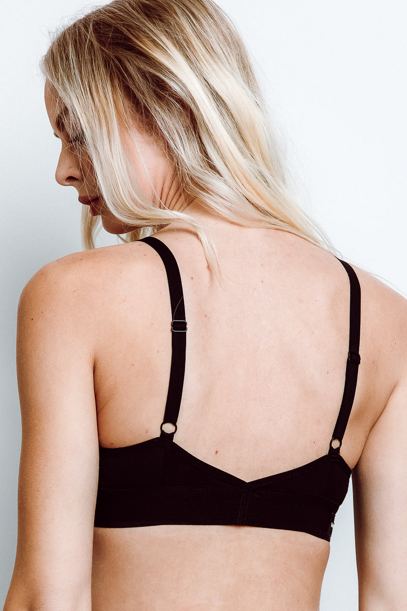 RicherPoorer Classic Bralette in Black