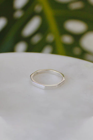 Sadie Jo Jewelry Co. Hexagonal Point Band in Sterling Silver