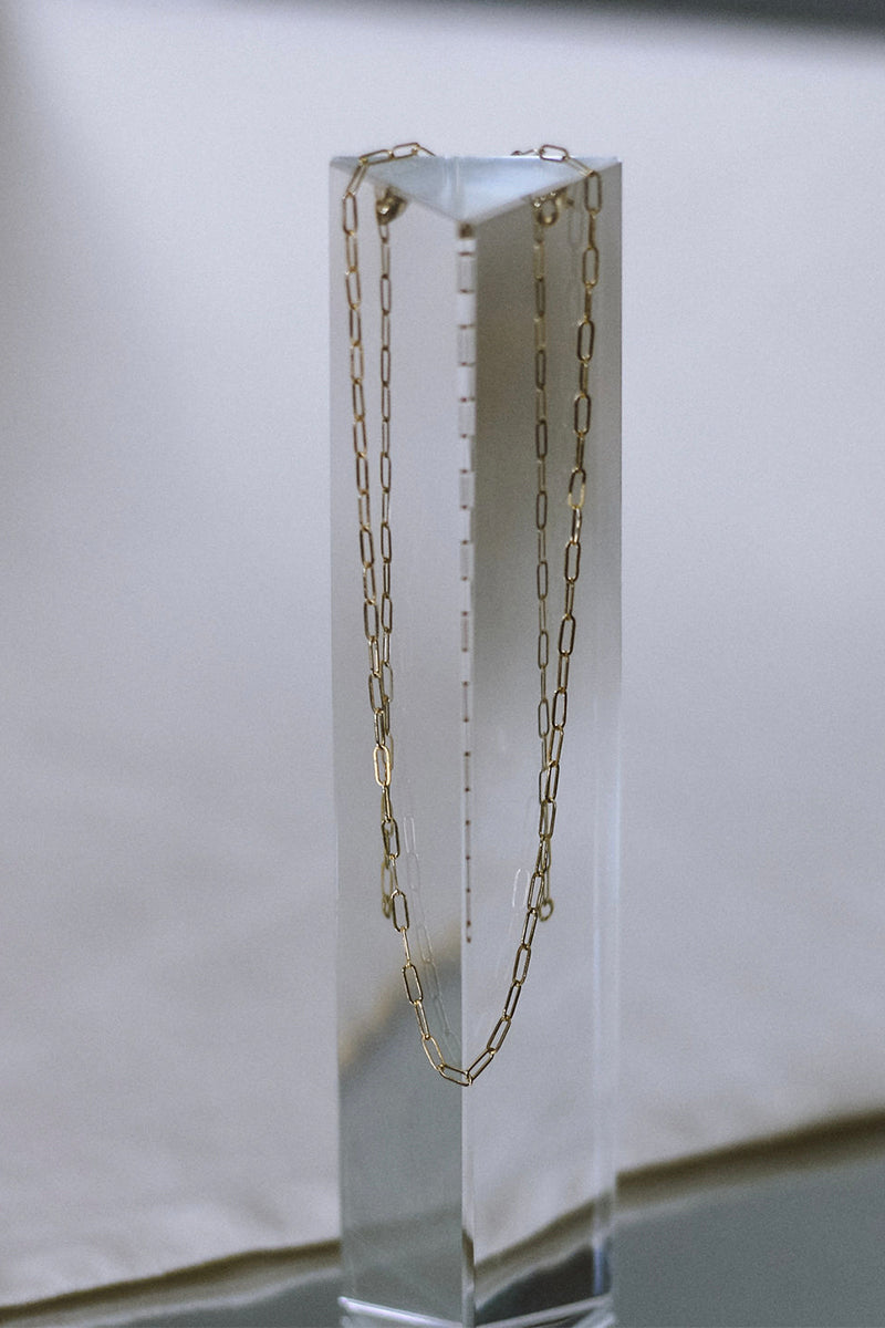 Sadie Jo Jewelry Co. Mini Paperclip Chain in Gold