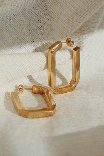 Sadie Jo Jewelry Co. Paperclip Earrings in Gold
