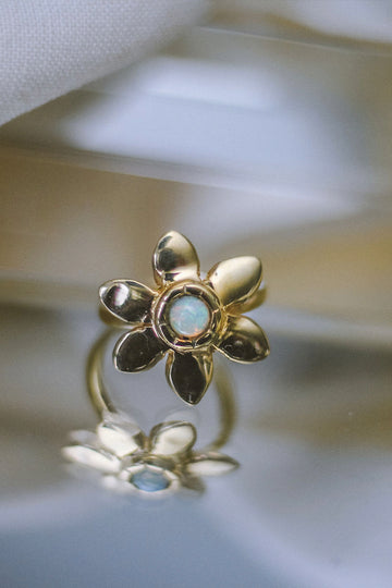 Sunflower Ring in Opal