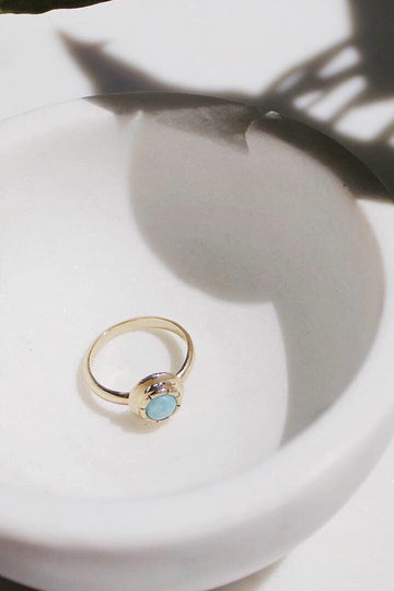 Sadie Jo Jewelry Co. Sun Goddess Ring in Larimar