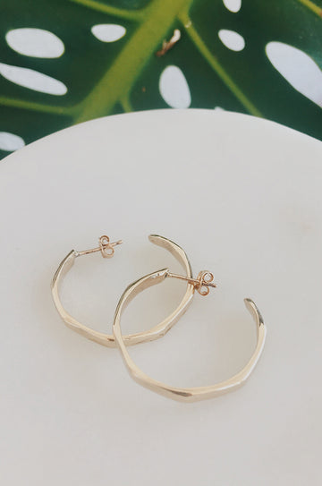Sadie Jo Jewelry Co. Hexagonal Hoops in 14k Gold Plated