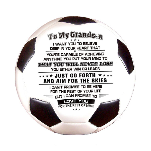 To My Grandson - I Love You - Soccer Ball