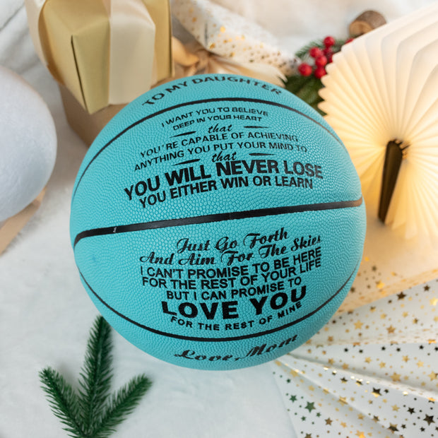 Mom to Daughter - You Will Never Lose - Basketball Light Blue