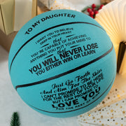 To My Daughter - You Will Never Lose - Basketball Light Blue