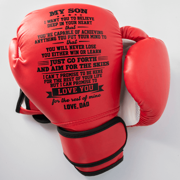 Mom to Son - You Will Never Lose -  A Pair Of  Boxing Gloves