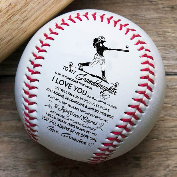 Grandma to Granddaughter - I love you | Baseball