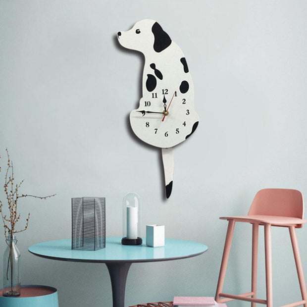 Cat Wall Clock With swinging Tail