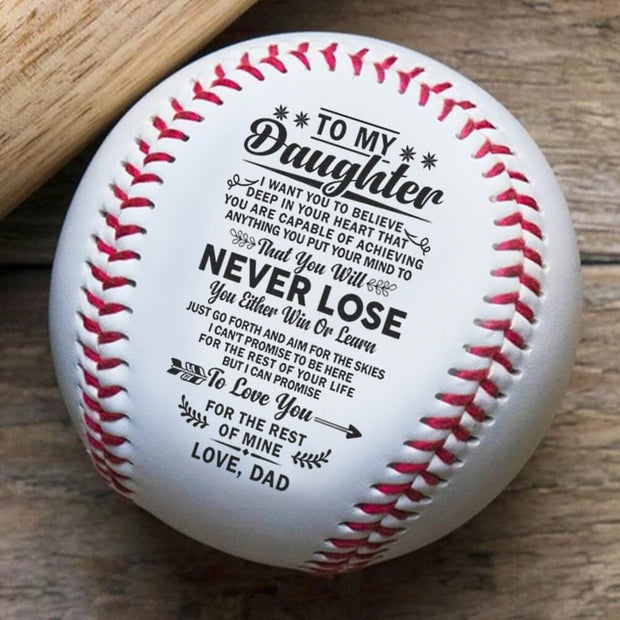 Dad To Daughter - Never lose | Baseball