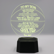 Mom to Son - You Will Never Lose  Basketball Lamp